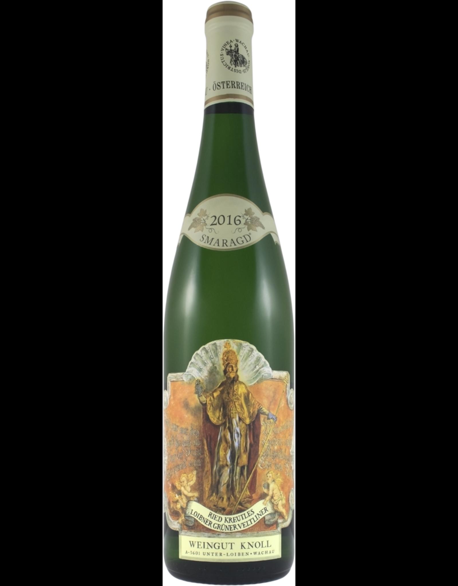 """White Wine 2016, Weingut Knoll """"Ried Kreutles"""", Loibner Gruner Veltliner, Wachau, Niederosterreich, Austria, 13% Alc, CT"""