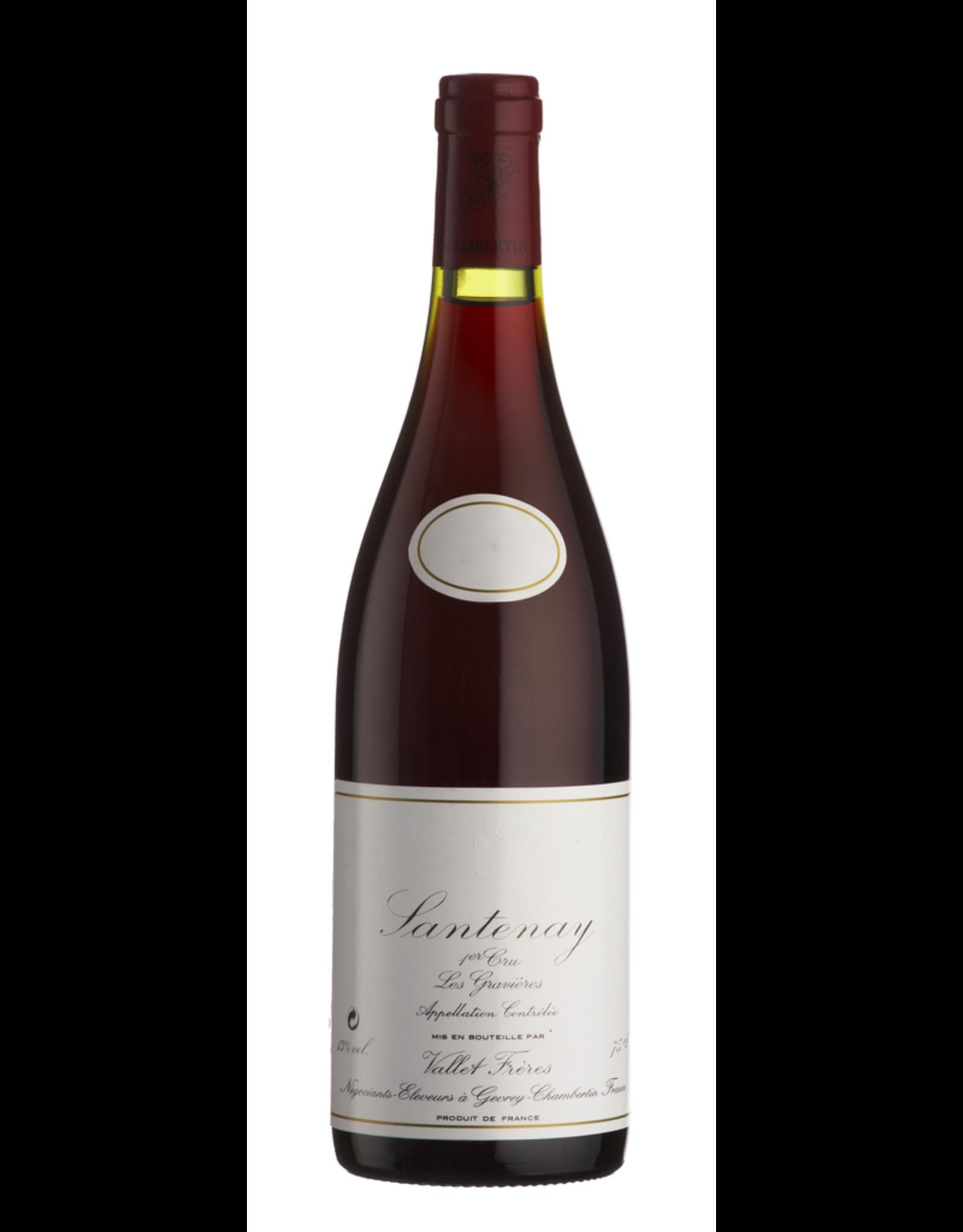Red Wine 2000, Vallet-Freres Santenay 1er Cru Les Gravieres, Pinot Noir, Gevrey-Chambertin, Burgundy, France, 13% Alc, CT91