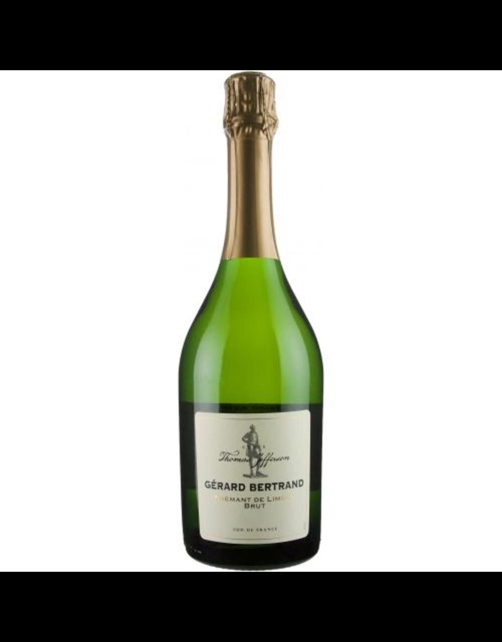 Sparkling Wine 2016, Gerard Bertrand Thomas Jefferson Cremant de Limoux Brut, Sparkling Wine, Cremant de Limoux, Alsace, France, 12.5% Alc, CTnr
