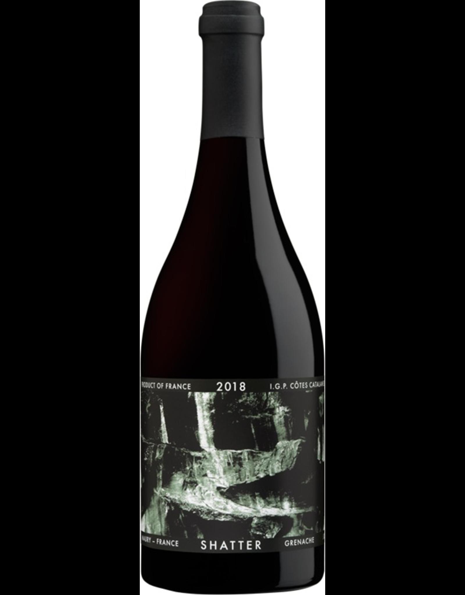 Red Wine 2018, Shatter by Goel Gott & Charles Bieler, Grenache, Vin de Pays des Cotes Catalanes, Languedoc Roussillon, France,15.6% Alc, CT89, TW92