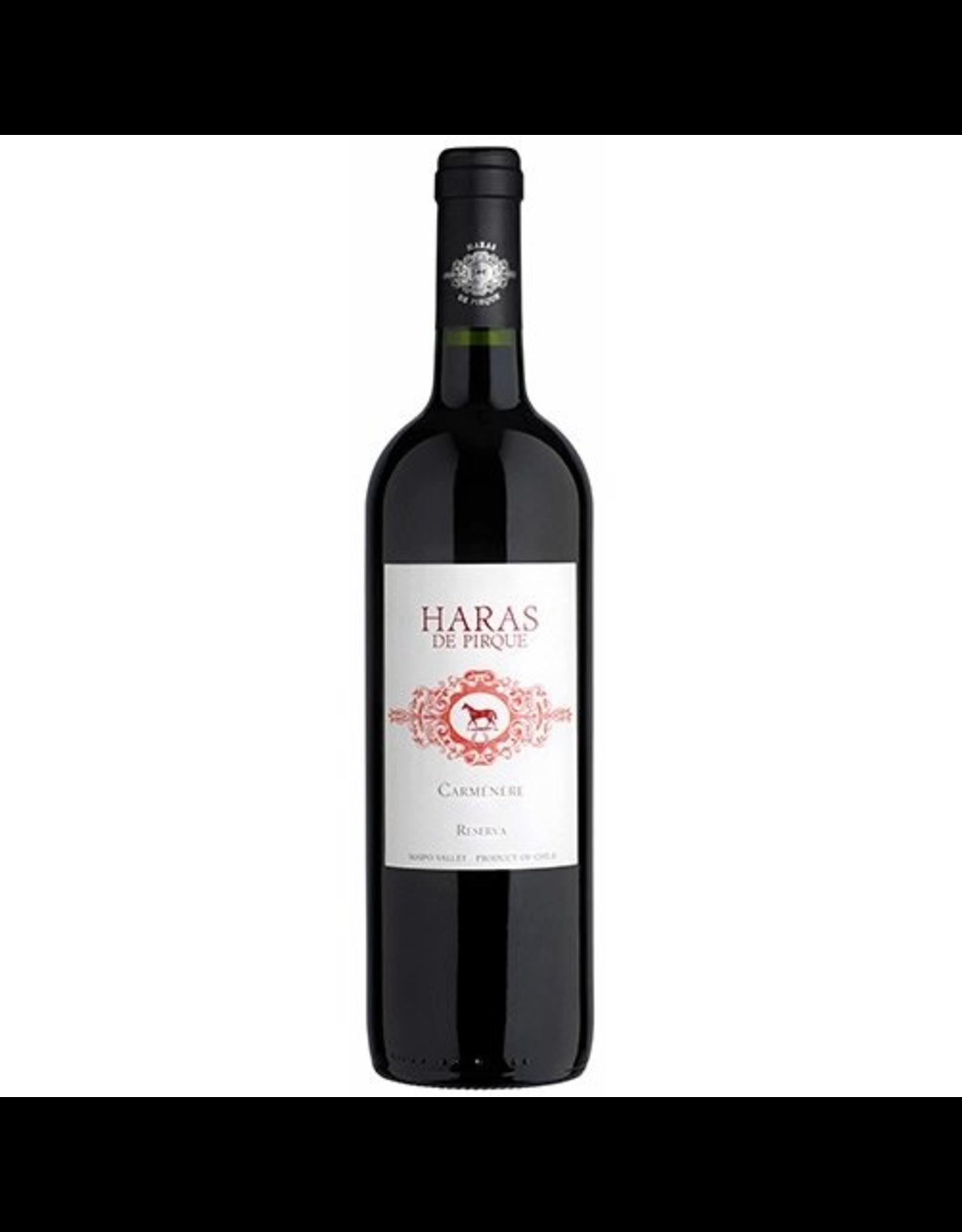 Red Wine 2015, Haras de Pirque Reserve, Carmenere, Pirque, Maipo Valley, Chile, 14.0% Alc, CTnr, JS90