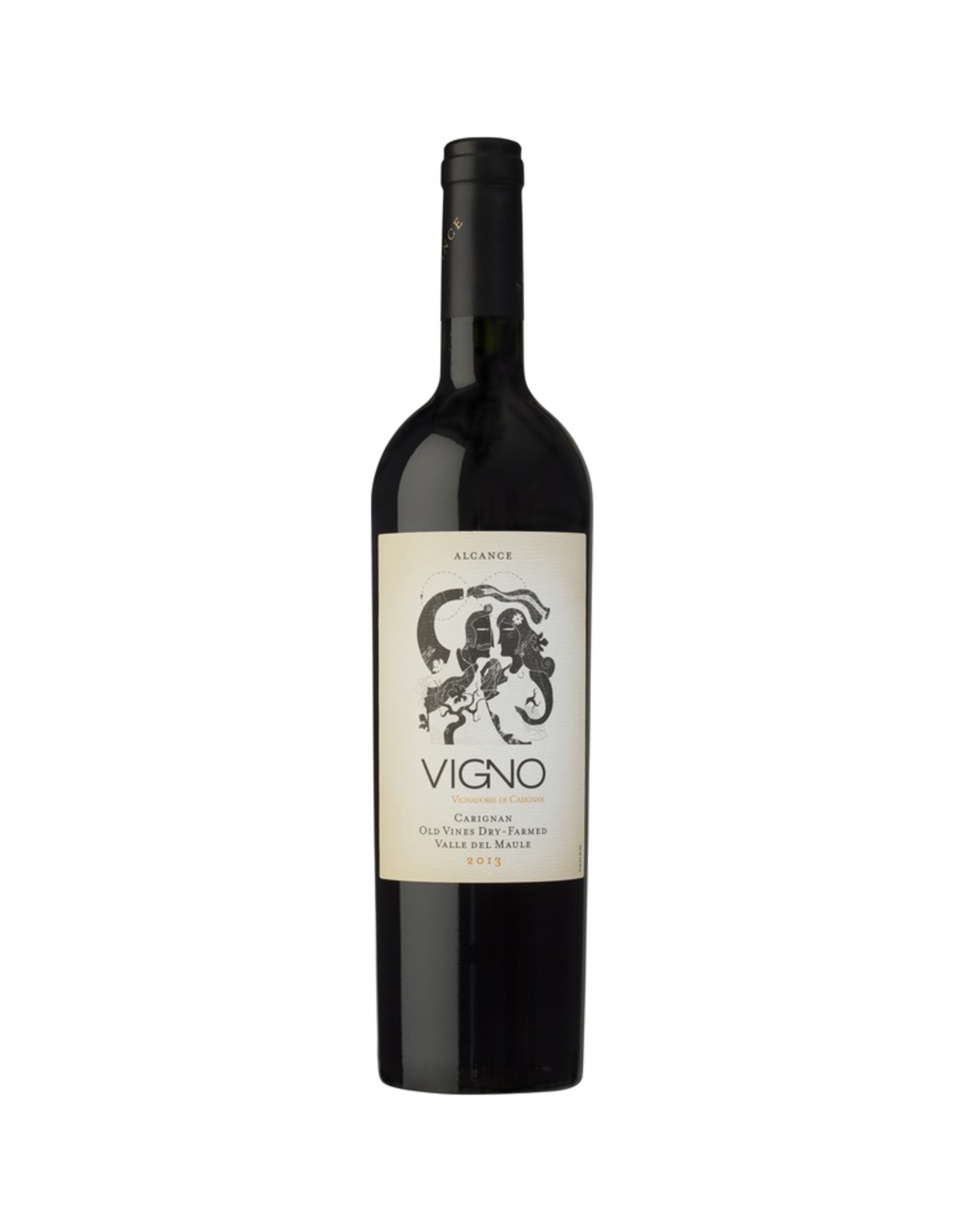 Red Wine 2014, Alcance Vigno Dry Farmed Old Vine, Carignan, Maule Valley, Central Valley, Chile, 14% Alc, TW93