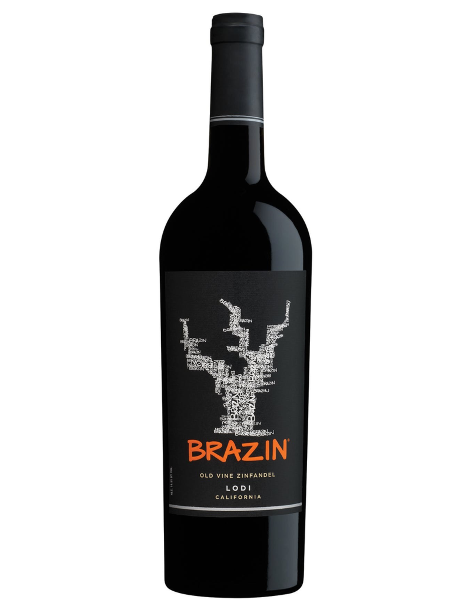 Red Wine 2017, BRAZIN, Old Vine Zinfandel, Lodi, Central Valley, California, 14.5% Alc, CTnr