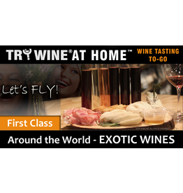 "Wine Flights TO-GO TO-GO, ""Exotic Wines"" FIRST CLASS FLIGHT"