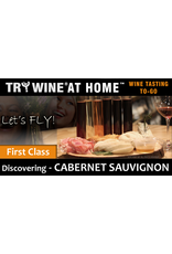 "Wine Flights TO-GO TRY WINE® AT HOME™, Discovering ""Cabernet Sauvignon"" FIRST CLASS TASTE TUBE FLIGHT™"