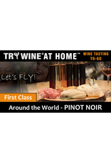 "Wine Flights TO-GO TRY WINE® AT HOME™, Around the World ""Pinot Noir"" FIRST CLASS TASTE TUBE FLIGHT™"