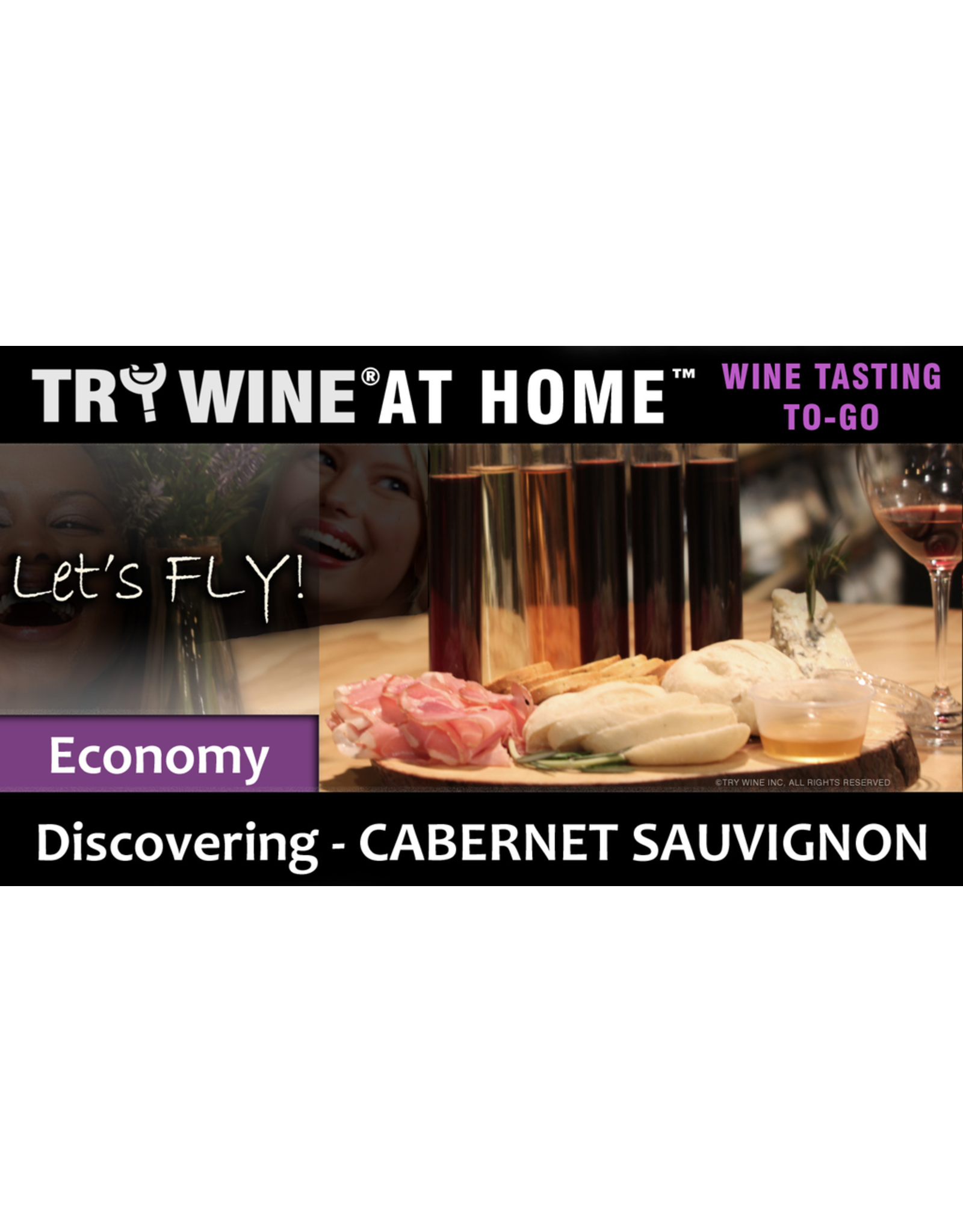 """Wine Flights TO-GO TRY WINE® AT HOME™, Discovering """"Cabernet Sauvignon"""" ECONOMY TASTE TUBE FLIGHT™"""
