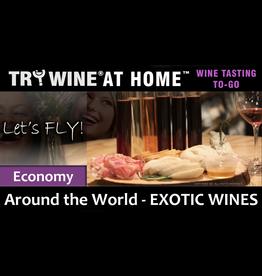 """Wine Flights TO-GO TO-GO, """"Exotic Wines"""" ECONOMY FLIGHT"""