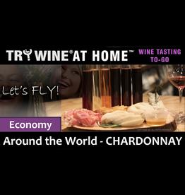 "Wine Flights TO-GO TO-GO, ""Chardonnay"" ECONOMY FLIGHT"