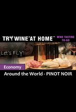 "Wine Flights TO-GO TRY WINE® AT HOME™, Around the World ""Pinot Noir"" ECONOMY TASTE TUBE FLIGHT™"