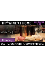 """Wine Flights TO-GO TRY WINE® AT HOME™, """"On the SMOOTH & SWEETER Side"""" ECONOMY TASTE TUBE FLIGHT™"""