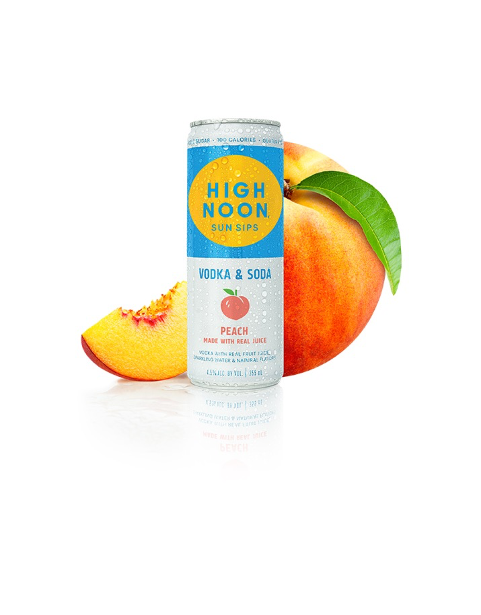 Alcoholic Specialty Drink High Noon Sun Sips, Peach Vodka & Soda (355ml)