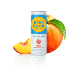 Alcoholic Specialty Drink High Noon Sun Sips, Peach Vodka & Soda