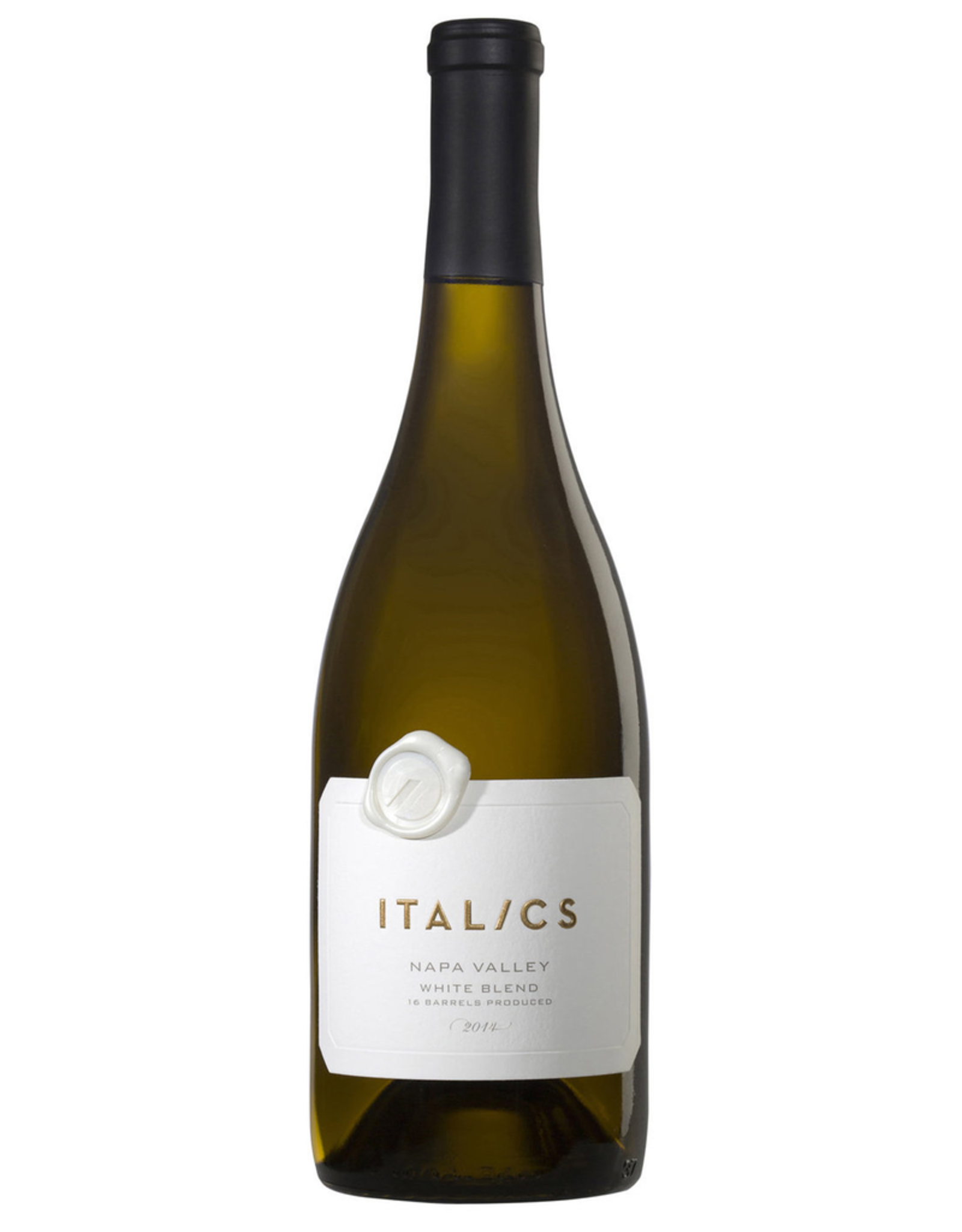 White Wine 2014, Italics 16 Barrel Rare White Blend, 47% Chardonnay 46% Sauvignon Blanc 7% Viognier, Multi-AVA, Napa Valley, California, 14.5% Alc, CT