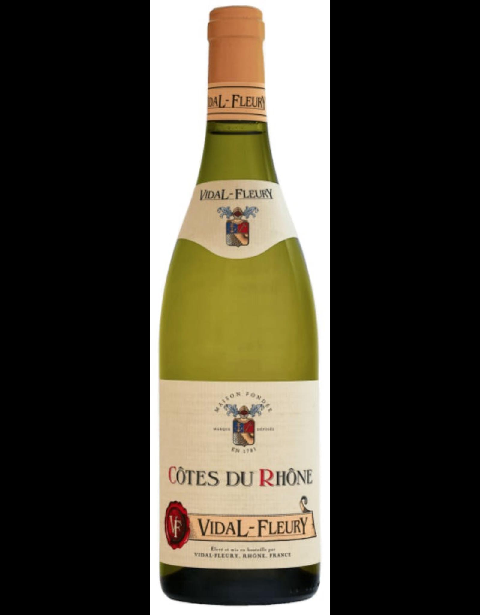White Wine 2015, Vidal-Fleury Cotes Du Rhone Blanc, WHITE Rhone Blend, Cotes du Rhone, Rhone Valley, France, 14% Alc, CT87.1, TW90