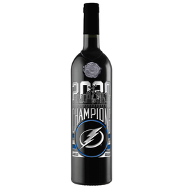 Red Wine NV, TAMPA BAY LIGHTNING Champions Etched Bottle
