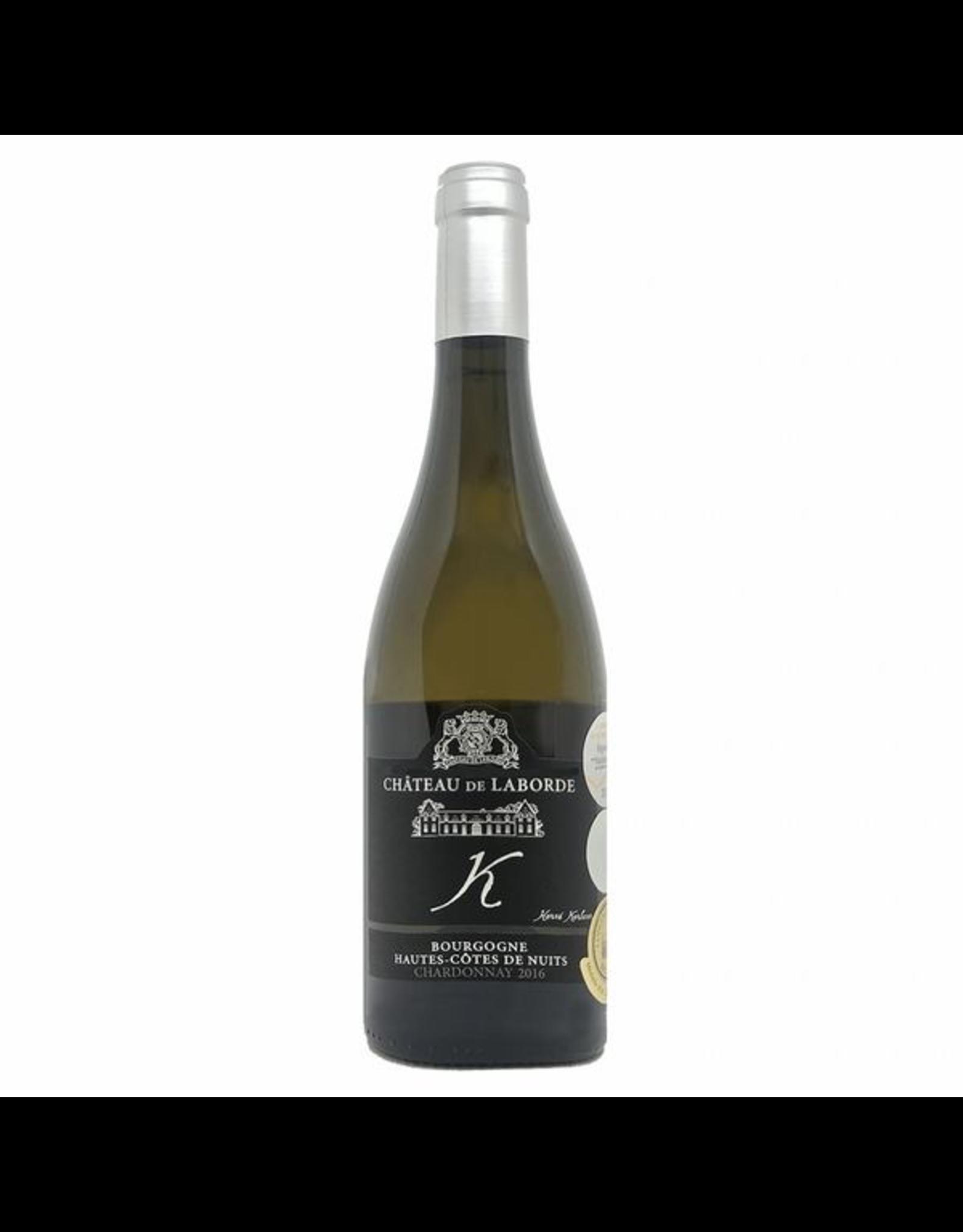 """White Wine 2016, Chateau De Laborde Cuvee """"K"""" Bourgogne Hautes Cotes de Nuits, Chardonnay, Nuits Saint Georges, Burgundy, France, 13% Alc, NR"""
