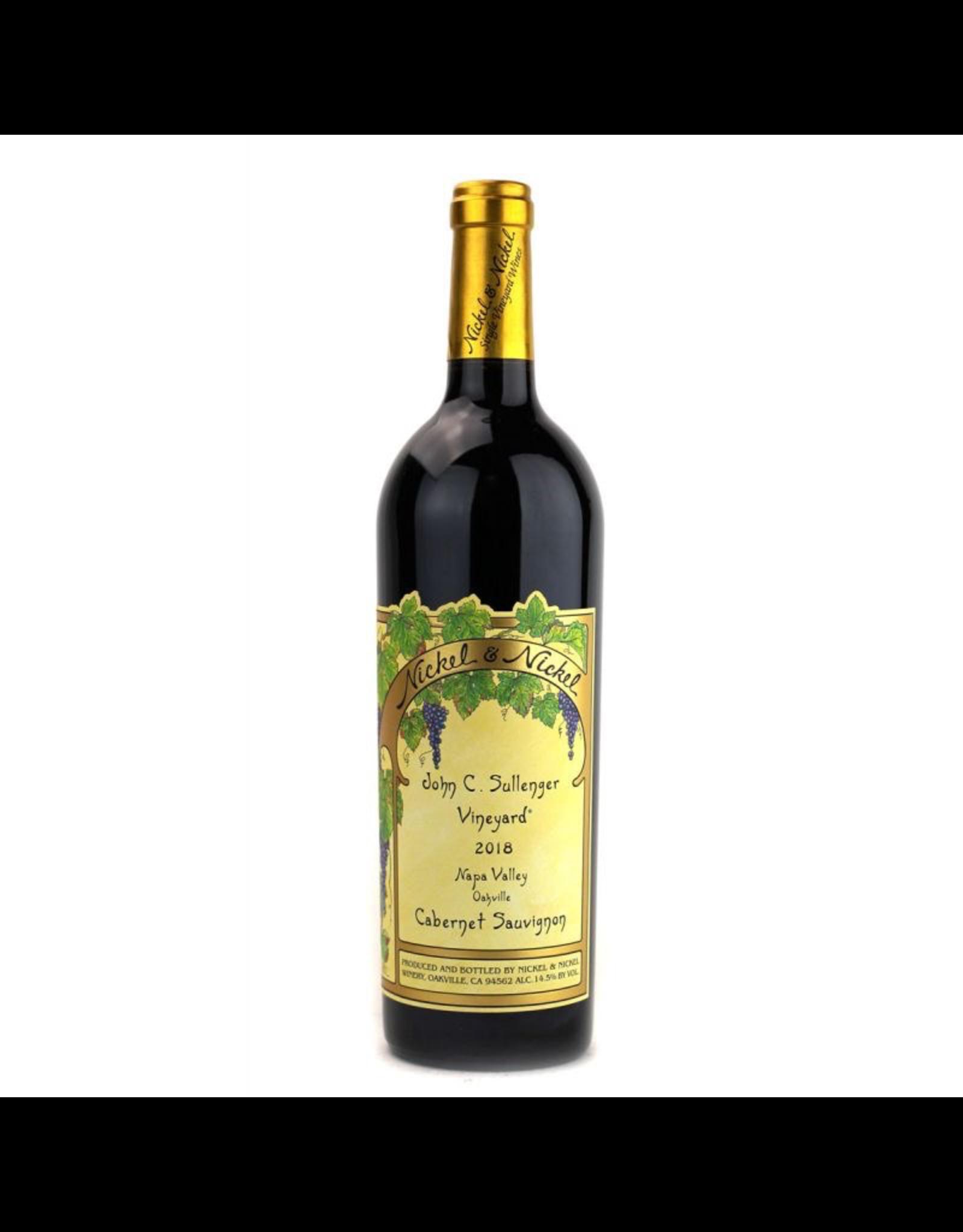 Red Wine 2018, Nickel & Nickel John C. Sullenger, Cabernet Sauvignon, Oakville, Napa Valley, California, 14.3% Alc, CT98.5