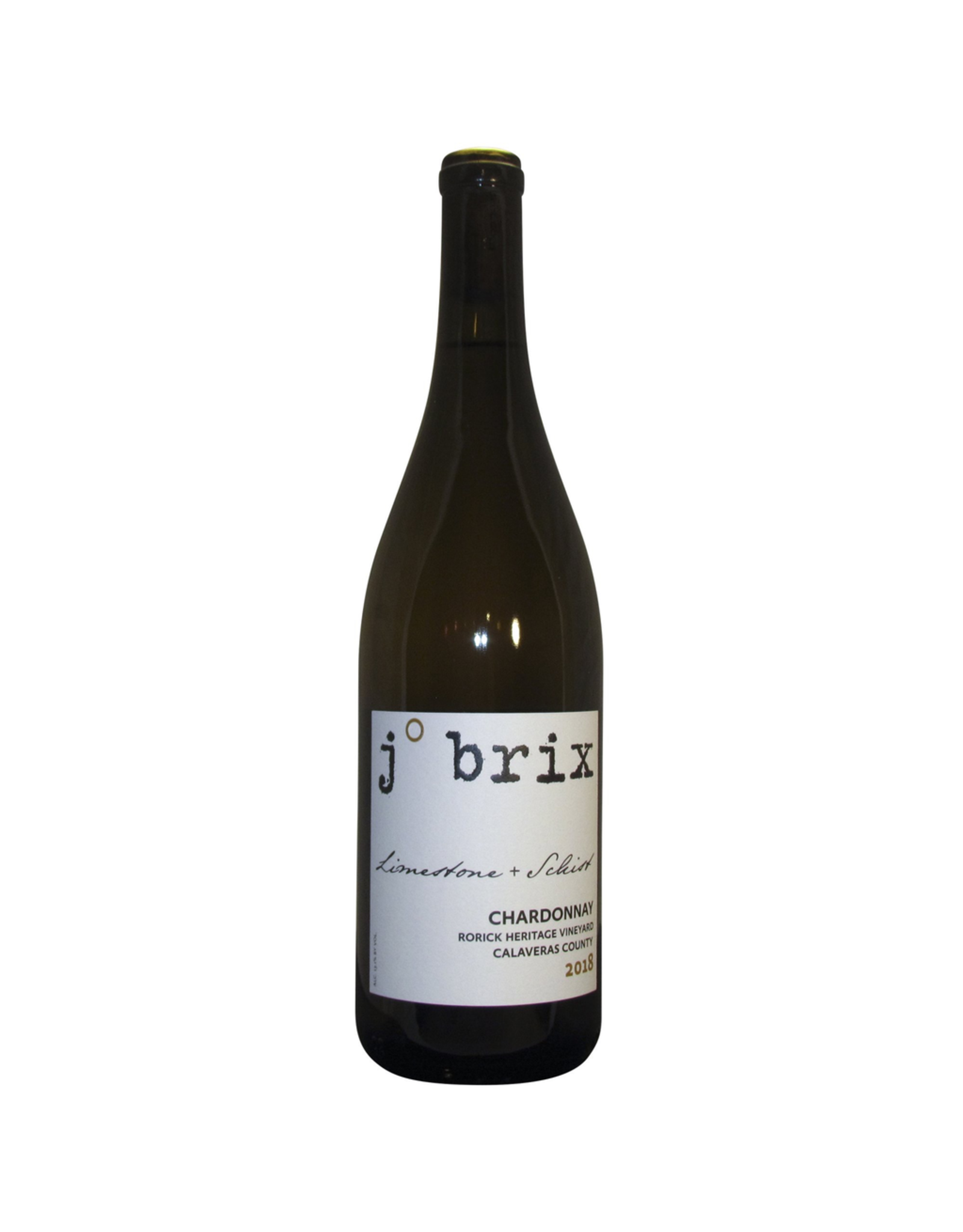 White Wine 2019, J. Brix Limestone + Schist Old Vine Single Vineyard,  Chardonnay, Rock Heritage Vineyard, Calaveras County, California, 13% Alc, CTnr