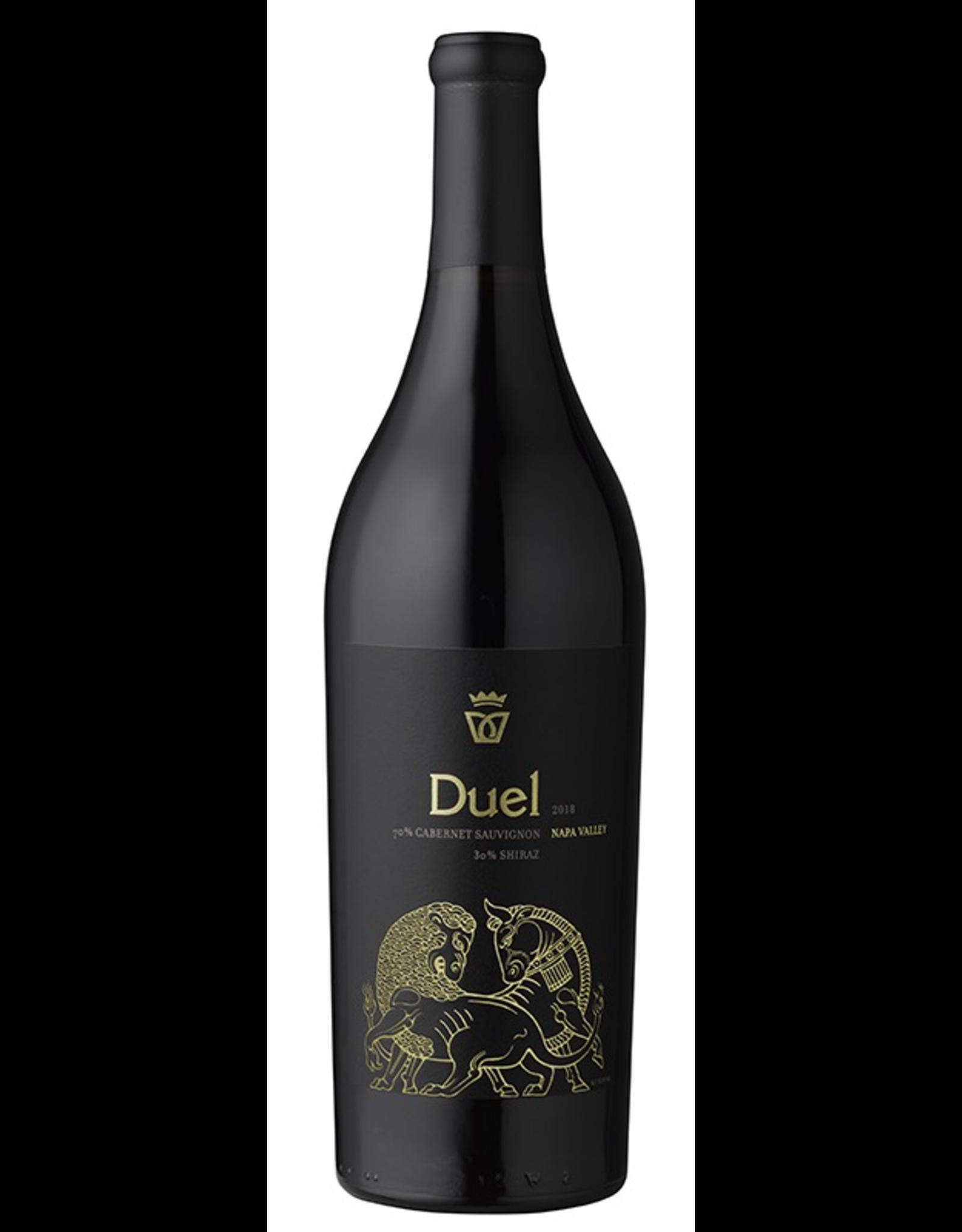 Red Wine 2018, Duel by Darioush, Cabernet Shiraz Blend, Napa, Napa Valley, California, 15.9% Alc, CTnr