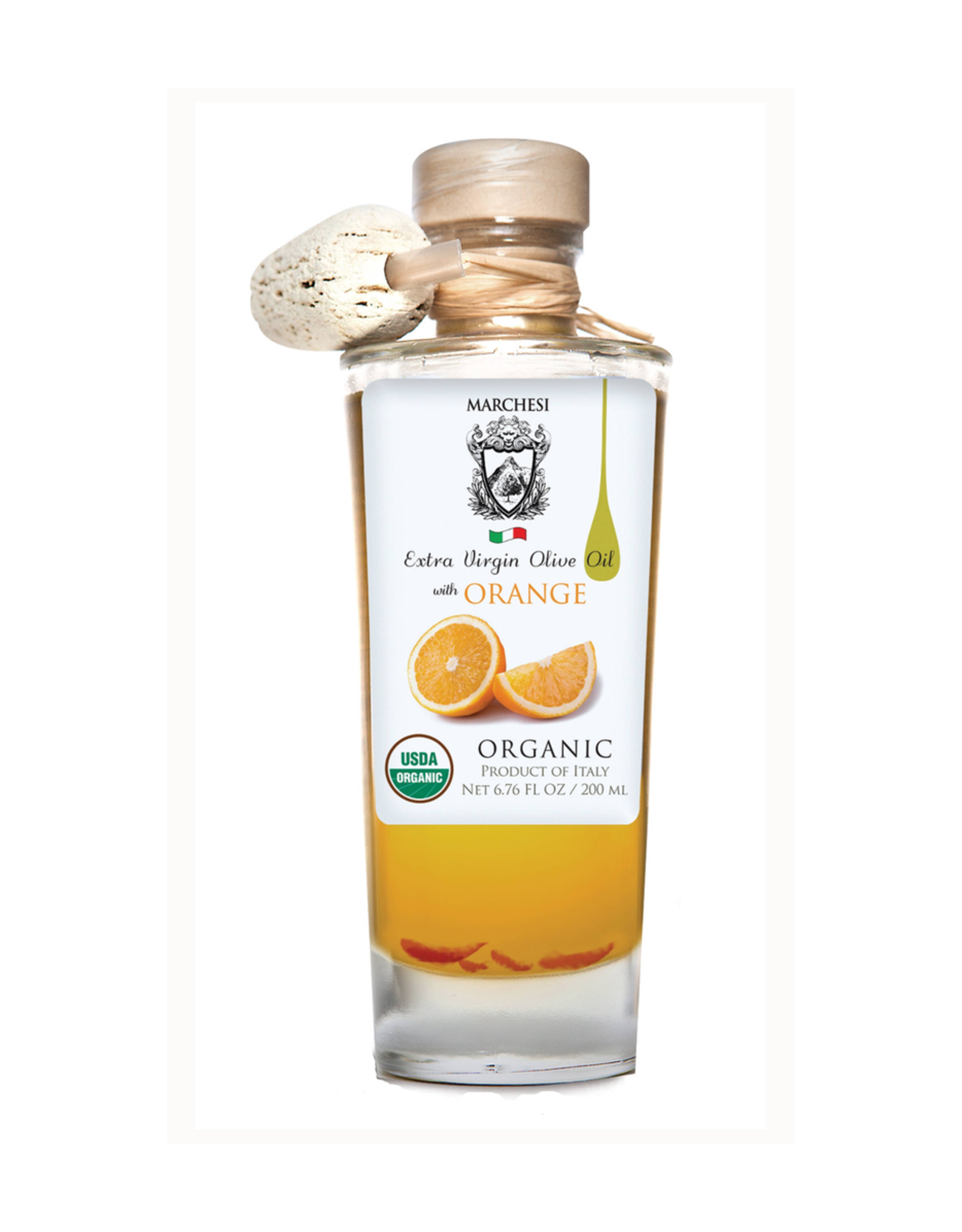 Specialty Foods Marchesi Extra Virgin Olive Oil, Organic, infused with Orange, 200ml