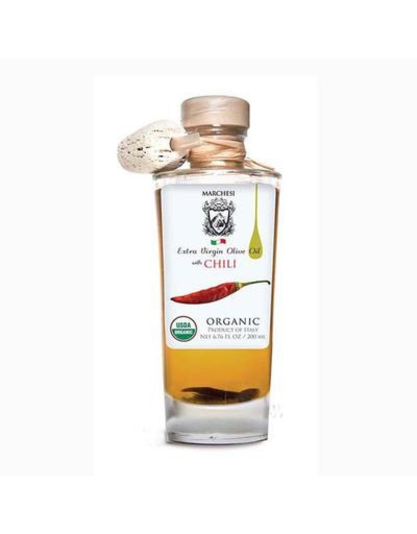 Specialty Foods Marchesi Extra Virgin Olive Oil, Organic, infused with Chili, 200ml