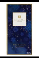 Chocolates Christopher Elbow, Milk Chocolate Speculoos, Chocolate Bar, 2.65oz