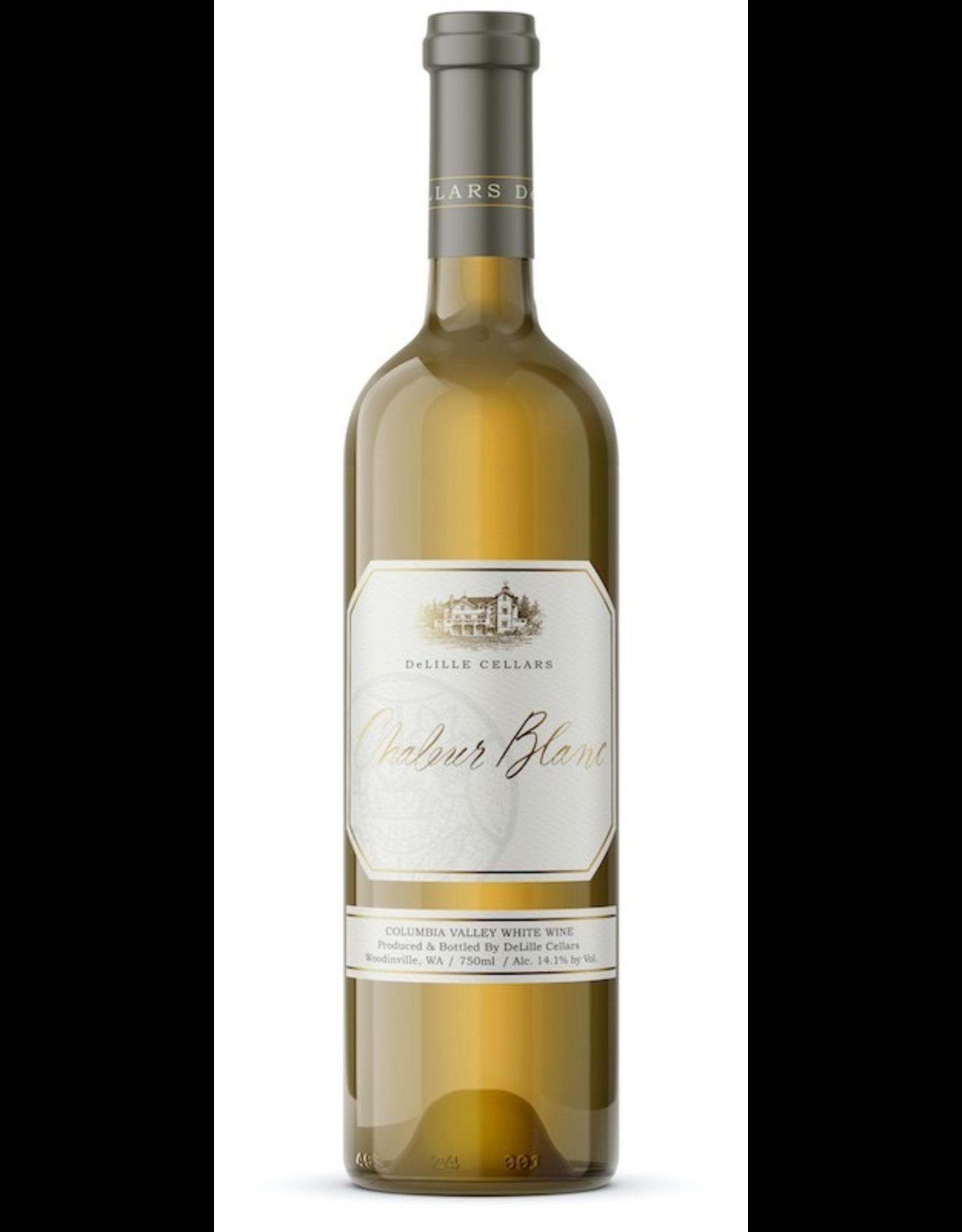White Wine 2017, De Lille Cellars Chaleur Estate Blanc, White Blend Sauvignon Blanc Semillion, Red Mountain Yakima Valley, Columbia Valley, Washington, 14.4% Alc, CT93 V93