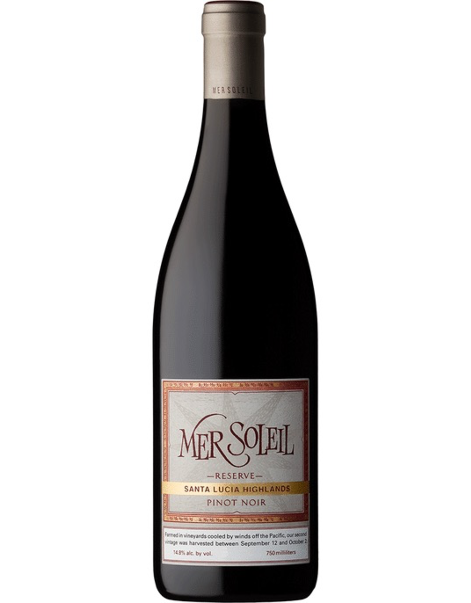 Red Wine 2018, Mer Soleil Reserve, Pinot Noir, Santa Lucia Highlands, Monterey County, California,14.8% Alc, CT90