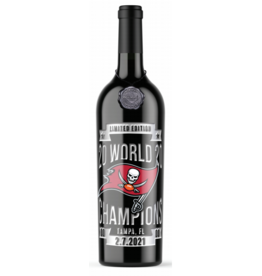 Red Wine NV, TAMPA BAY BUCCANEERS Champions Etched Bottle