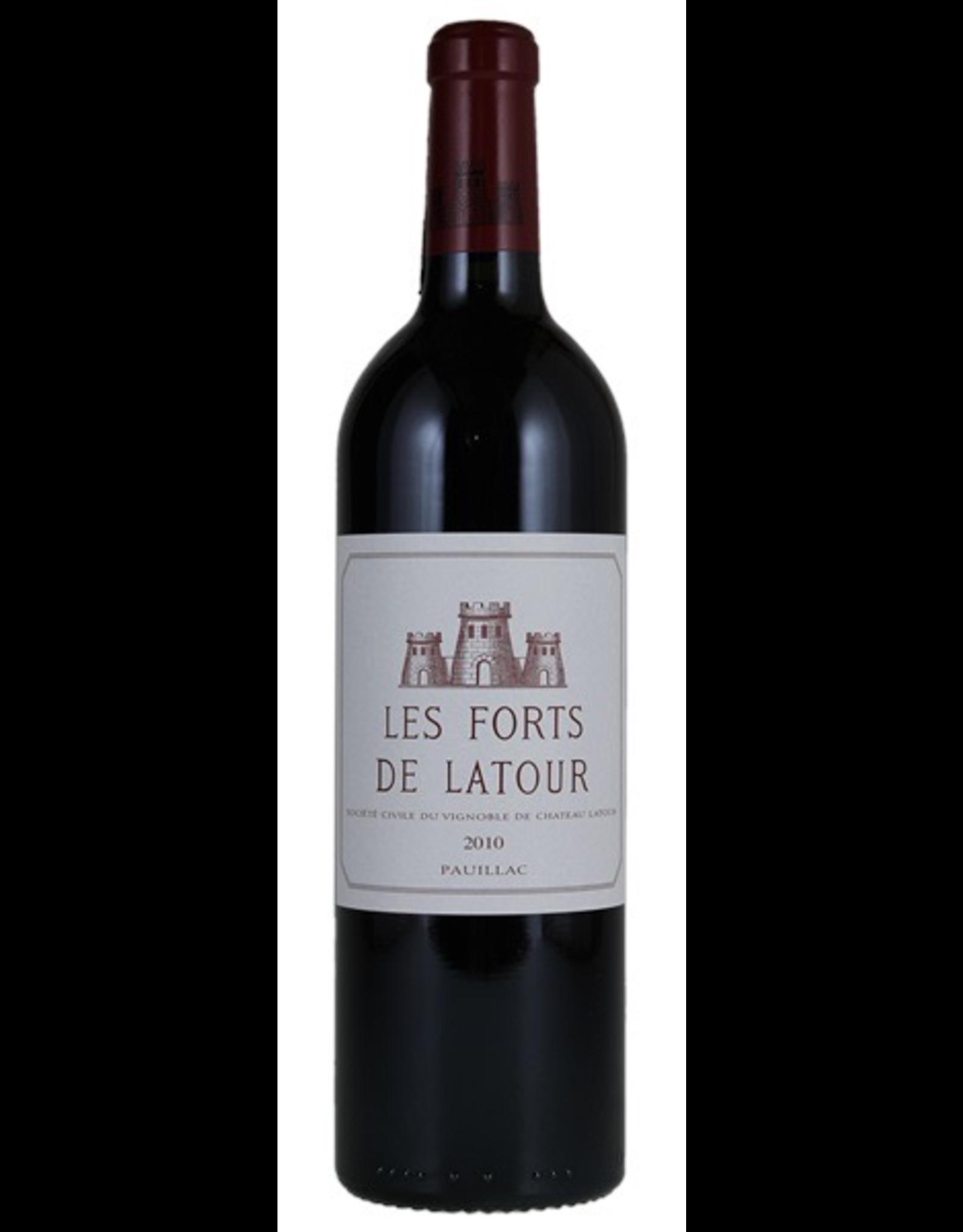 Red Wine 2010, Les Forts de Latour 1st Growth 2nd Grand Cru Chateau Latour, Red Bordeaux Blend, Pauillac, Bordeaux, France, 14% Alc, CT93.6 JS96
