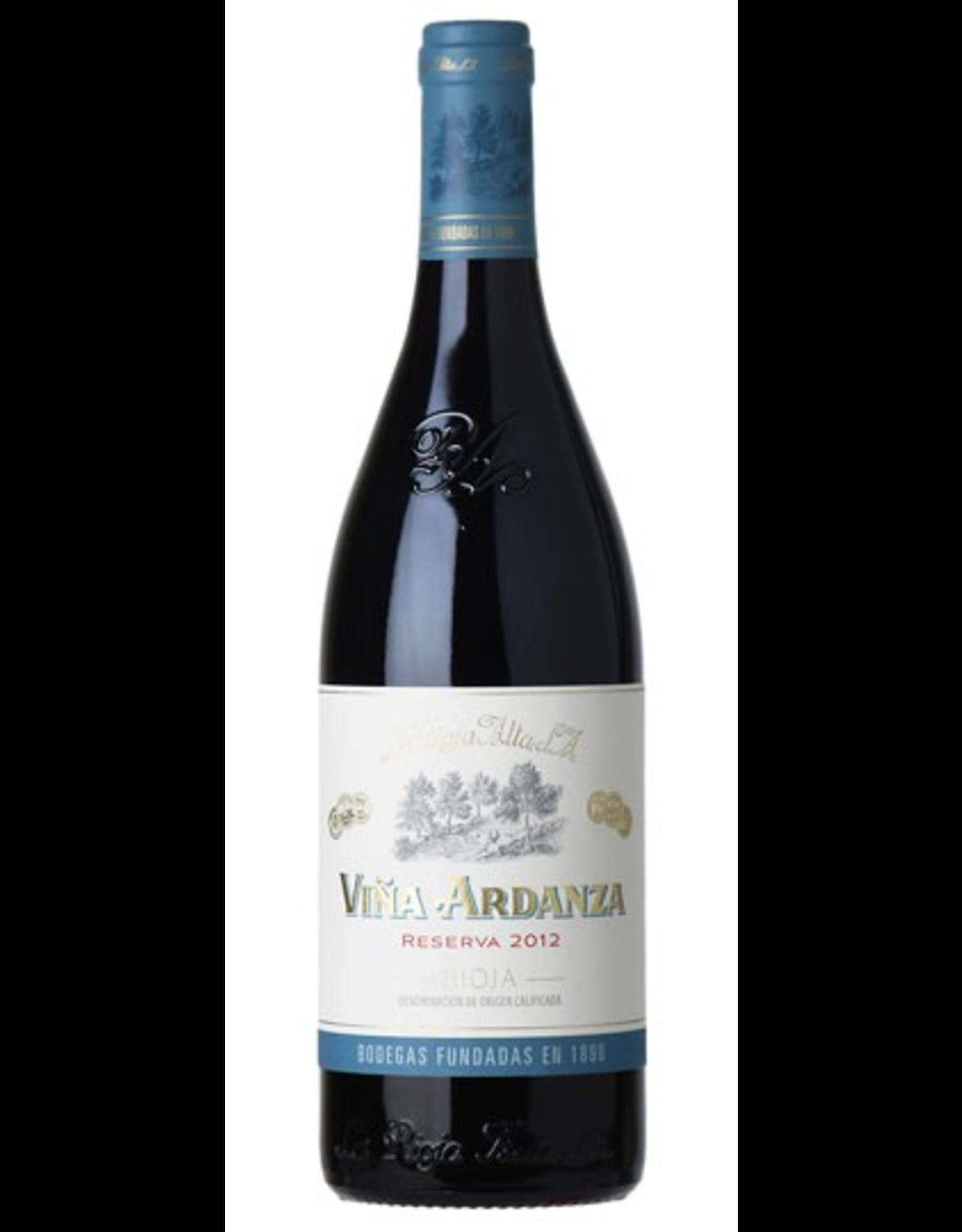 Red Wine 2012, La Rioja Alta Vina Ardanza, S.A. Reserva Rioja, Red Tempranillo Blend, Haro, Rioja, Spain, 13.5% Alc, CTnr