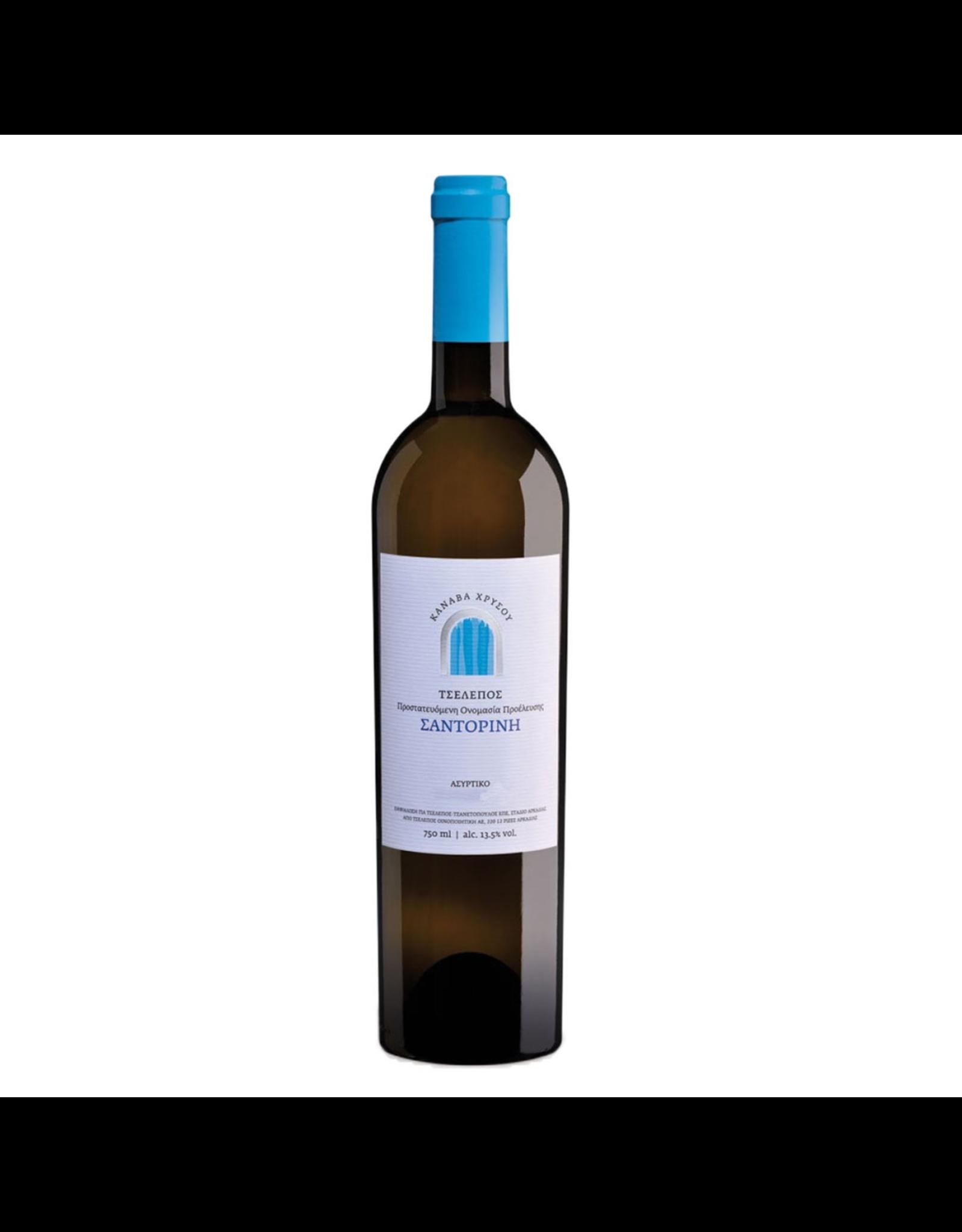 White Wine 2019, Tselepos Canava Chrissou, Assyrtiko, Santorini, Santorini, Greece, 13.5% Alc, CTnr