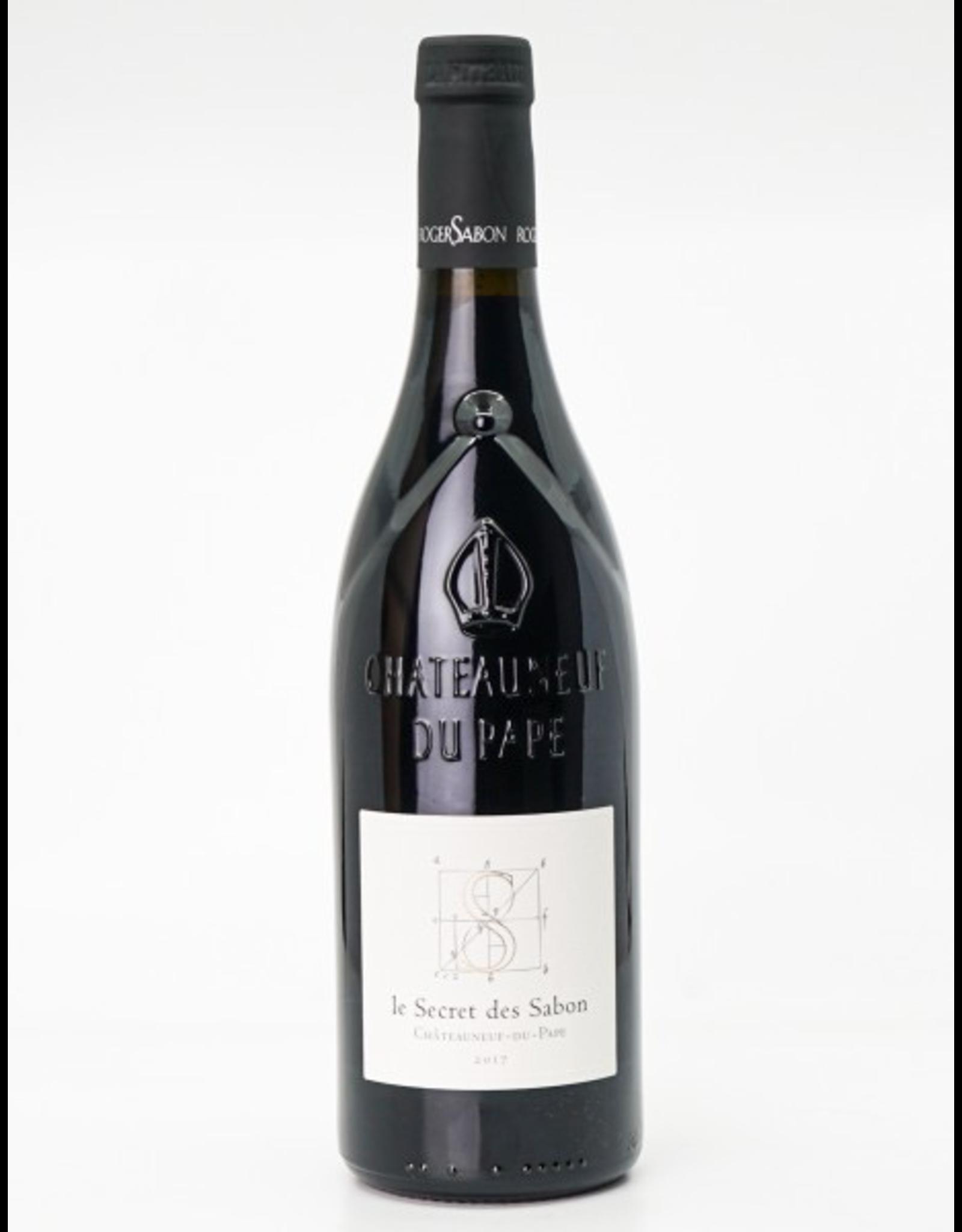 Red Wine 2017, Roger Sabon le Secret des Sabon Chateauneuf-du-Pape, Red Rhone Blend, Chateauneuf-du-Pape, Southern Rhone, France, 15% Alc, CT97 JD99