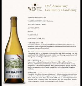 White Wine 2016, Wente Estate 135th Anniversary, Chardonnay