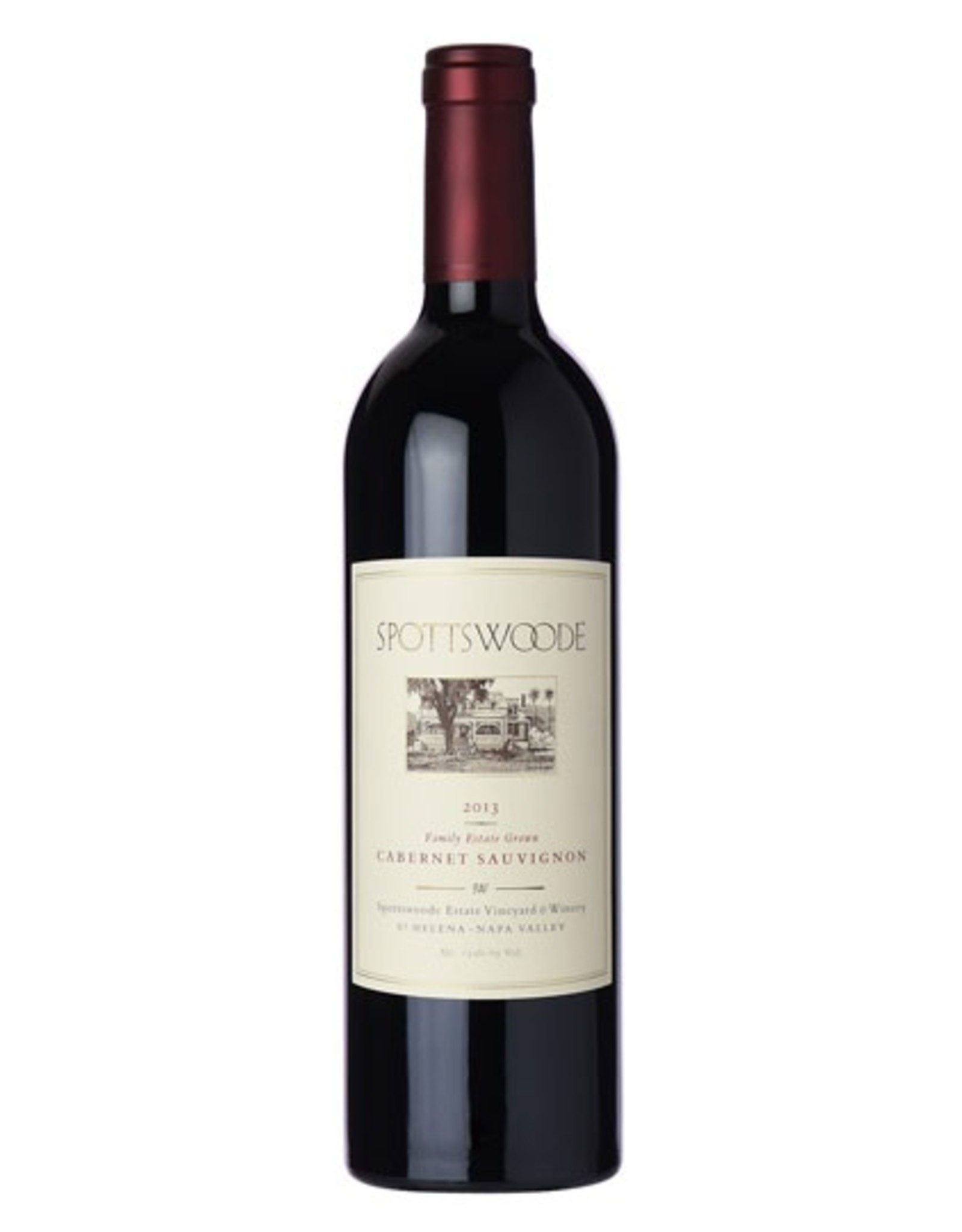 Red Wine 2013, Spottswoode Chateau Hill Gift, Cabernet Sauvignon, St. Helena, Napa Valley, California, 13.9% Alc, CT , RP99