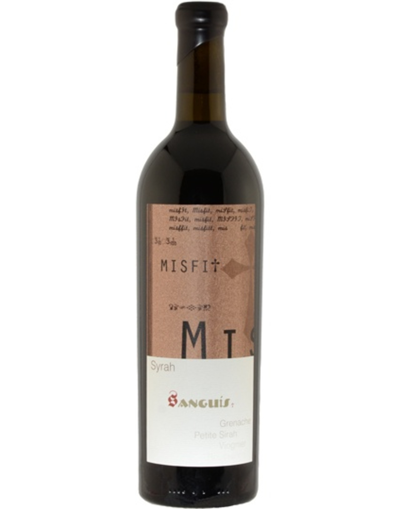 Red Wine 2013, Sanguis Misfit, Syrah Blend, Santa Barbara County, Central Coast, Califiornia, 15.2%, CT93, TW98