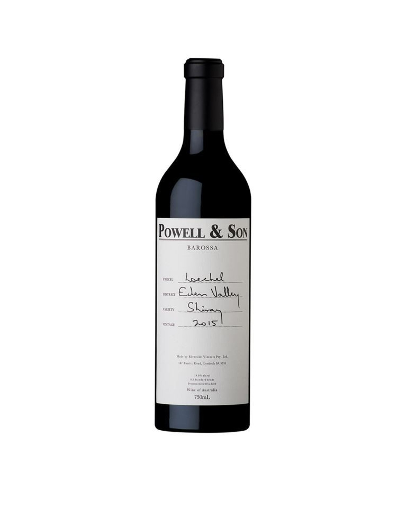 Red Wine 2015, Powell & Son Loechel, Shiraz, Eden Valley, Barossa, Australia, 14.5% Alc, CT97, RP97