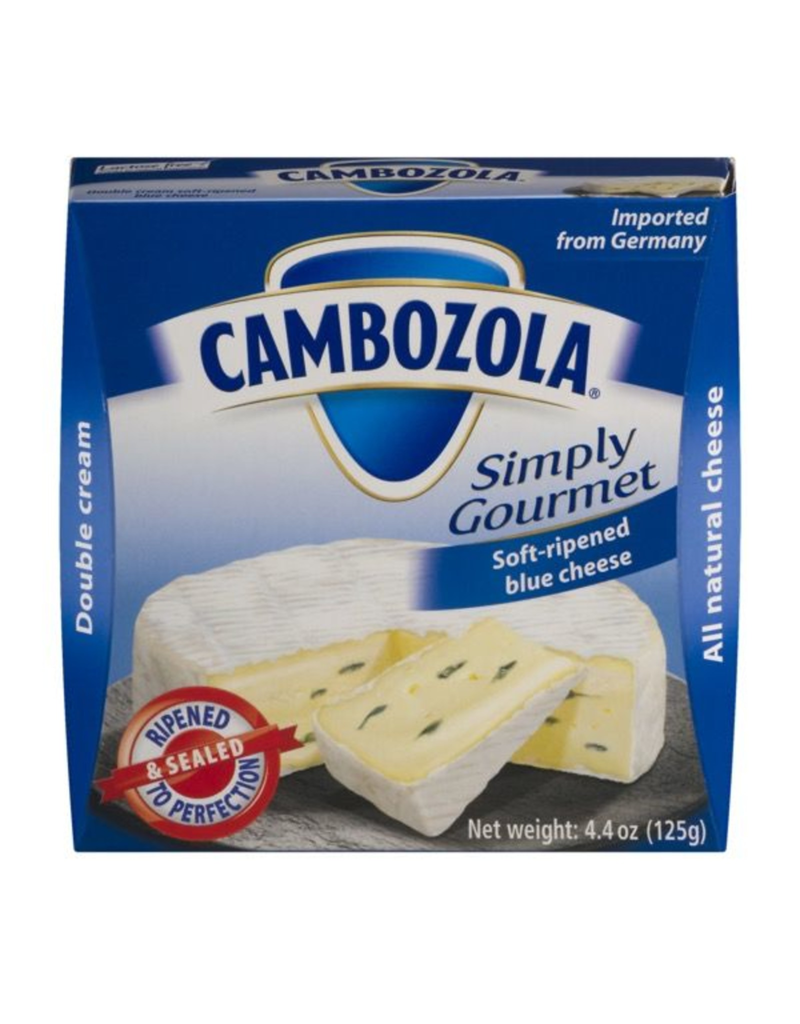 Specialty Cheese Cambozola, Soft ripened Blue Cheese, 4.40z