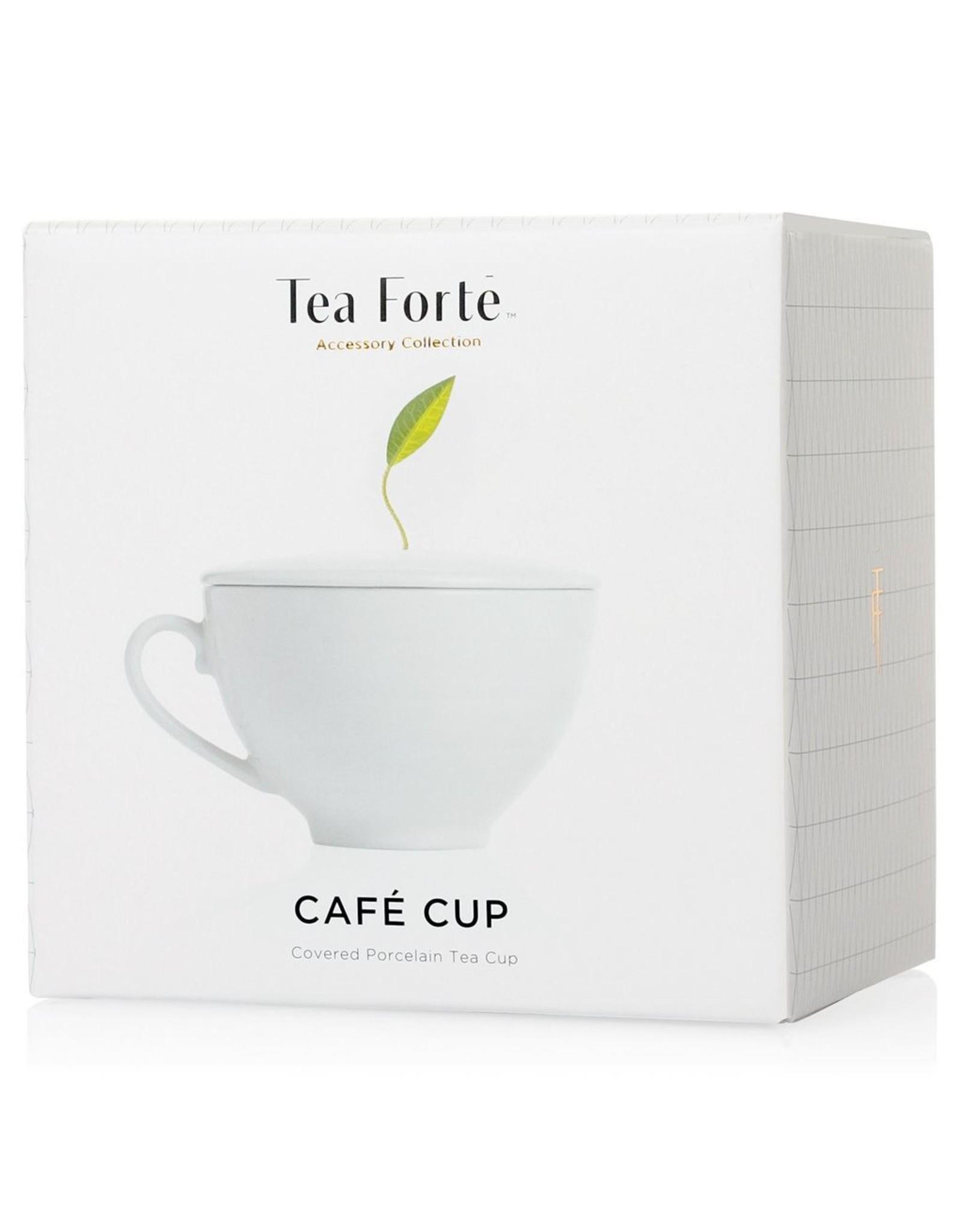 Tea Tea Forte Cafe Cup (WHITE), 1 Piece w/lid