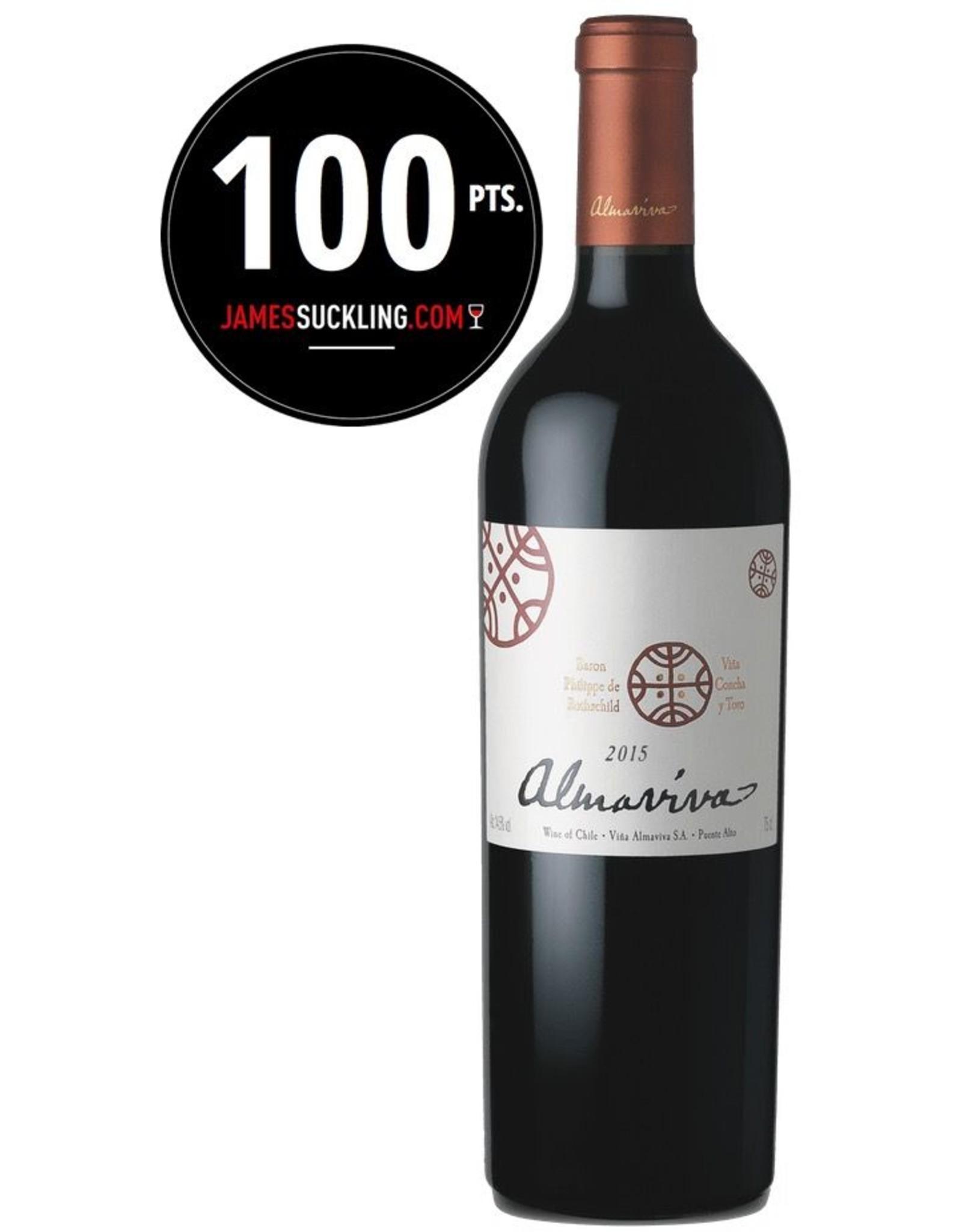 Red Wine 2015, ALMAVIVA by Phillipe De Rotschild and Concha y Toro, Modified Bordeaux Blend, Puente Alto, Maipo Valley, Chile, 14.5%  Alc, JS100 JS#1Top100 of 2017