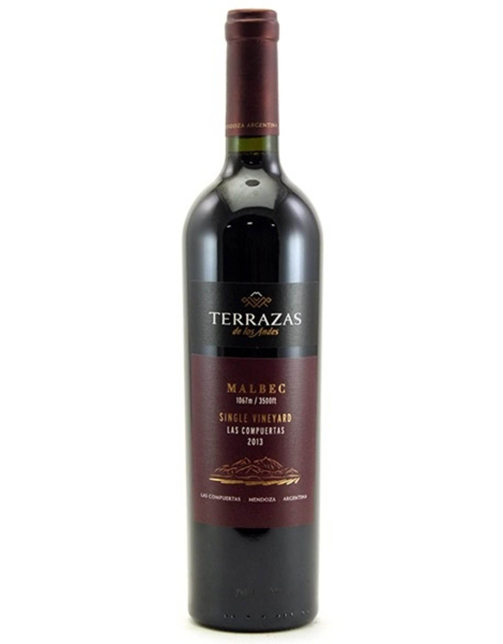 Red Wine 2013, Terrazas de los Andes Las Compuertas, Malbec, Lujan de Cuyo, Mendoza, Argentina, 15% Alc, CT