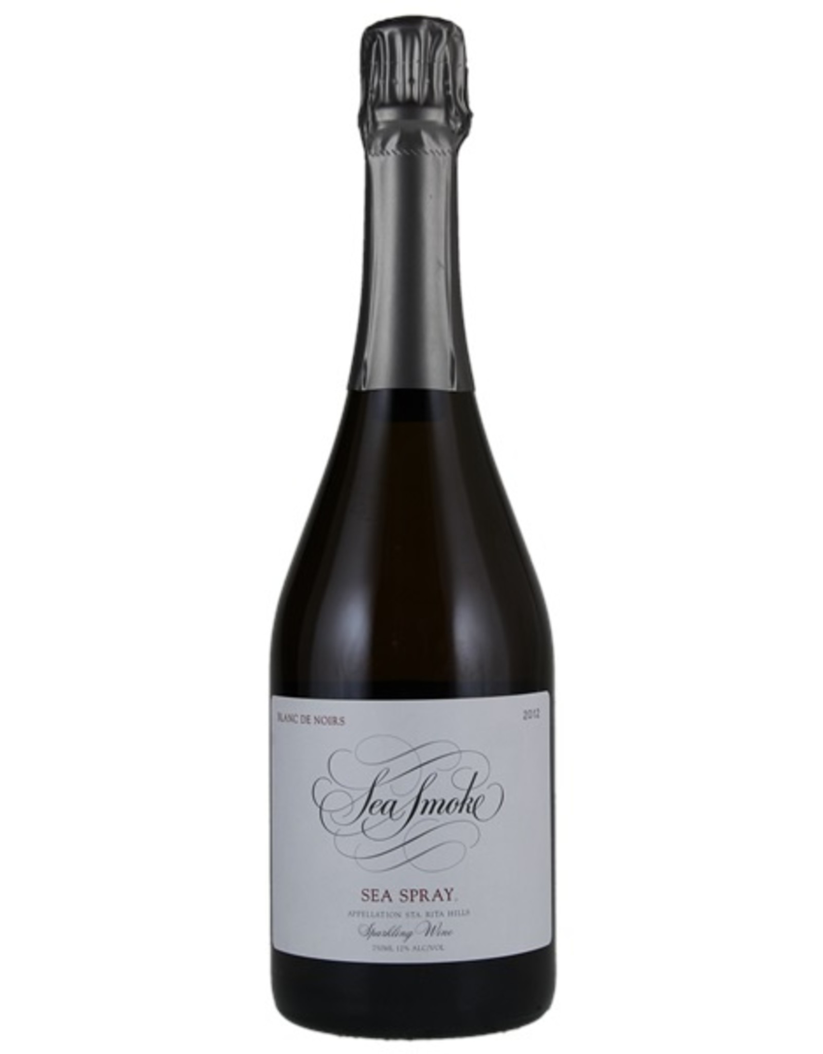 Sparkling Wine 2012, Sea Smoke Sea Spray Blanc De Noirs, Sparkling Pinot Noir,  Sta. Rita Hills, Central Coast, California, 12% Alc, CT90, WE92, TW95