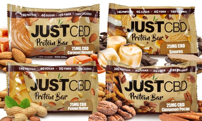 JUST CBD 25MG Protein Bar