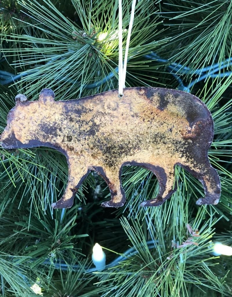 Metal Bear Ornament