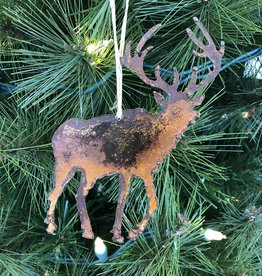 Metal Elk Ornament