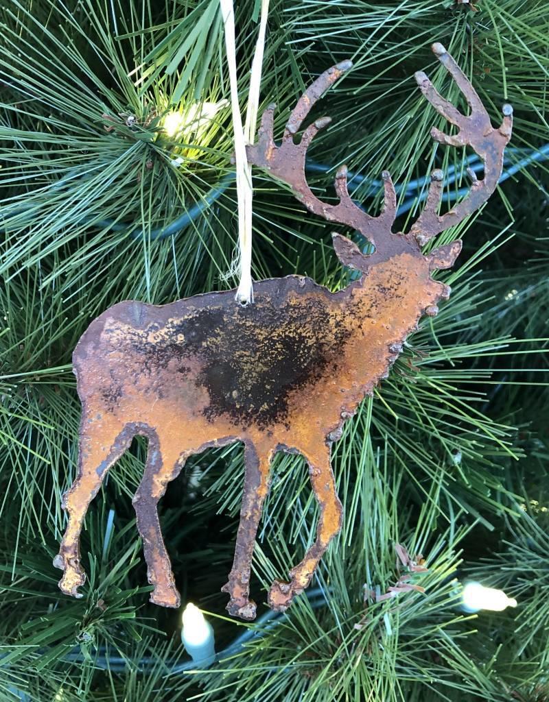 Metal Elk Ornament