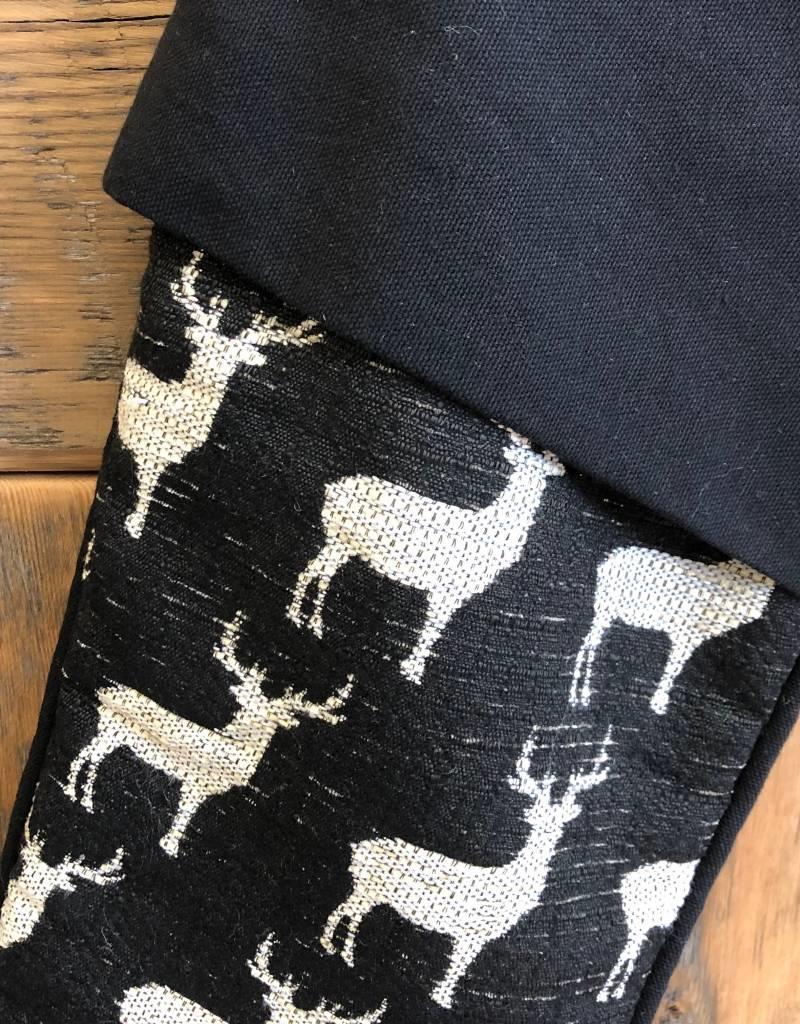 Stag Stocking Black Ivory