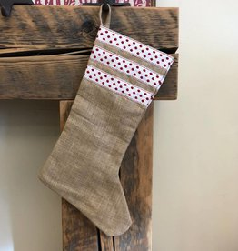 Jute Stocking with Polka Dot