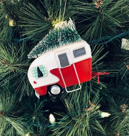 Red Iron Camping Trailer Ornament